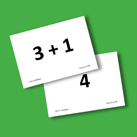 Mental Arithmetic Flash Cards
